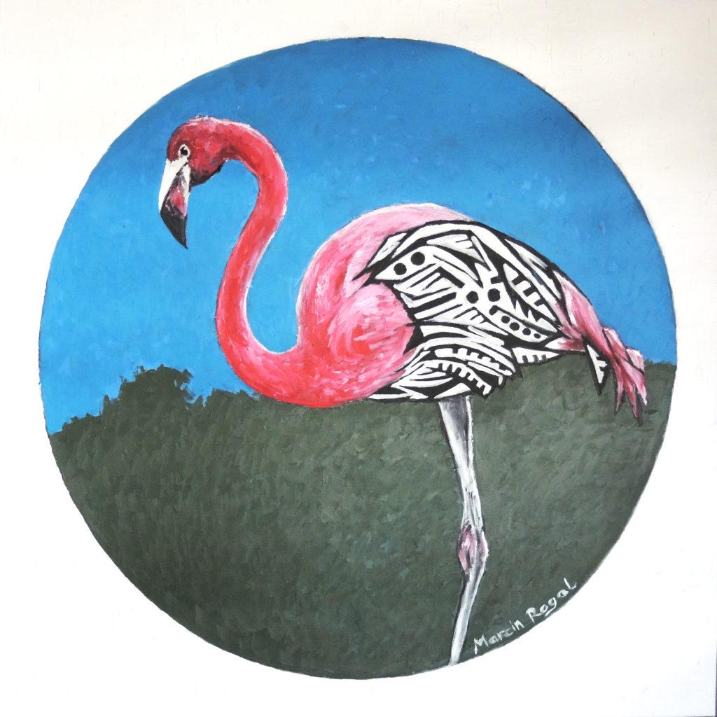 flamingo-painting-art-artwork-marcin-rogal