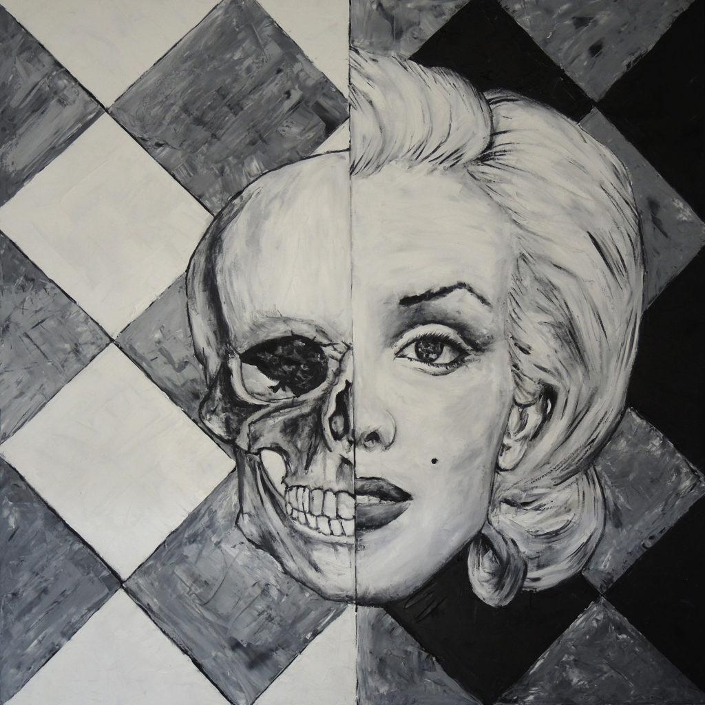 marcin-rogal-art-artwork-skullart-marilyn-monroe
