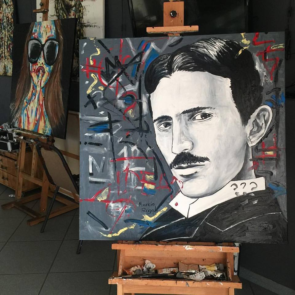 nikola-tesla-art-artwork-marcin-rogal