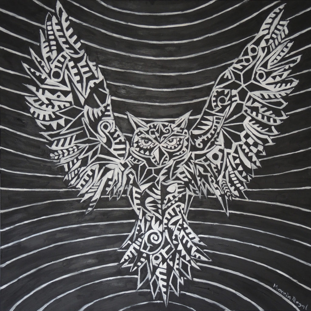owl-art-marcin-rogal-painting-black-blvck